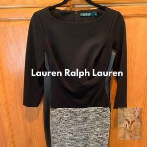 NWT black 3/4 sleeve knit dress size 2 (G)